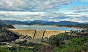 The Shasta Dam is one of the tallest in the United States